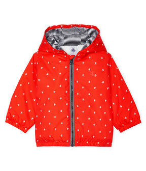 Unisex Baby's Fleece-Lined Jacket Spicy orange / Marshmallow white
