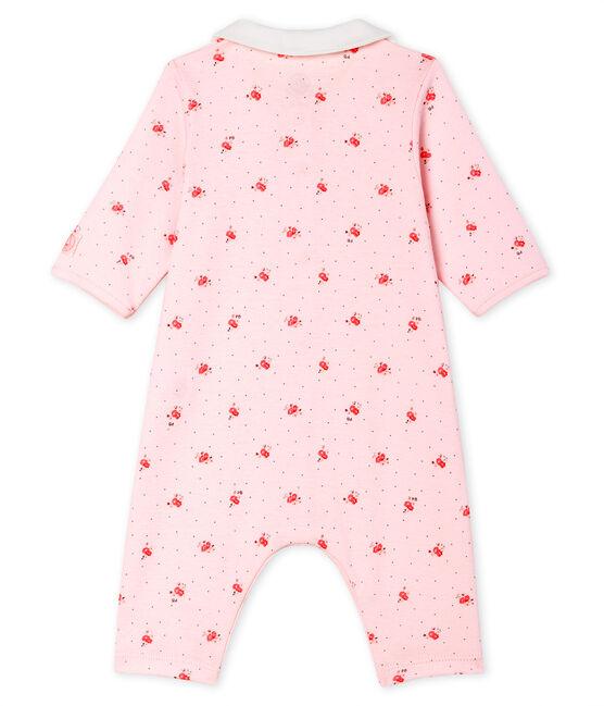 Babies' Footless Sleepsuit Vienne pink / Multico white