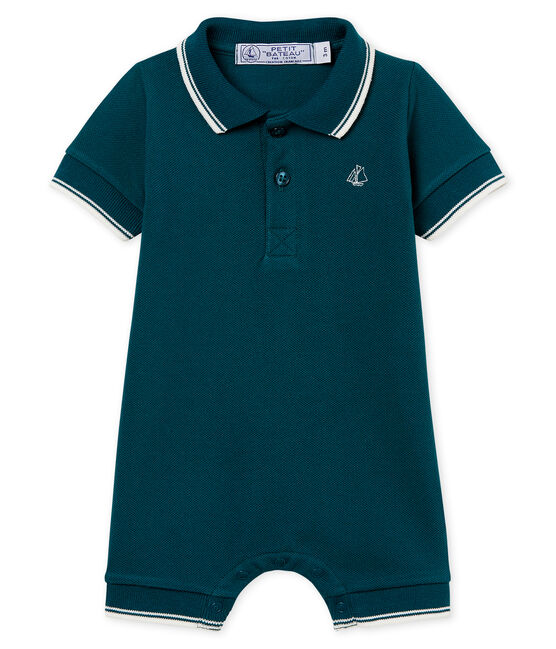 Baby boys' polo shirt Shortie Pinede green