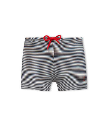 UPF 50+ swimming trunks for baby boys Abysse blue / Lait white