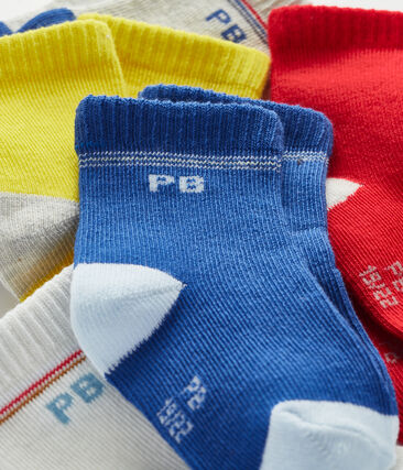 Set of 5 pairs of socks for baby boys . set