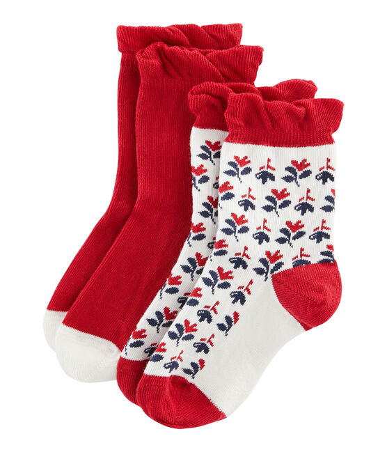 Pack of 2 Pairs of Girls' Socks . set