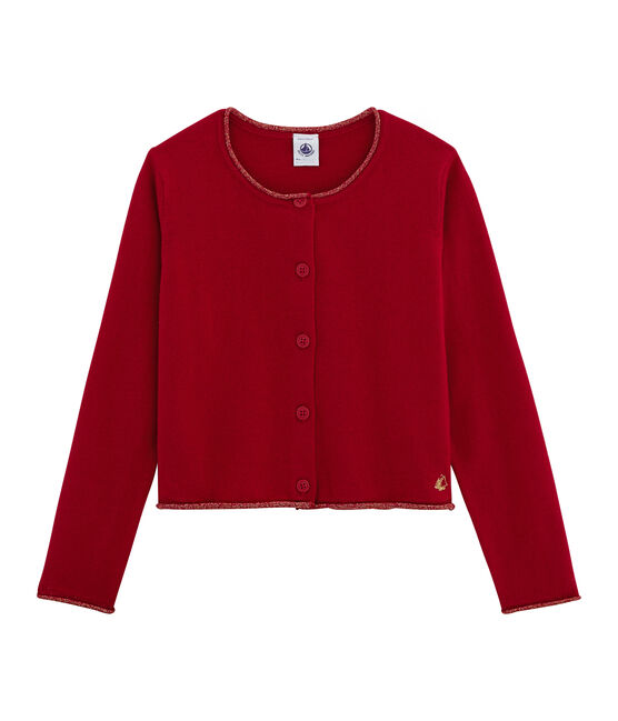 Girls' Knit Cardigan Terkuit red