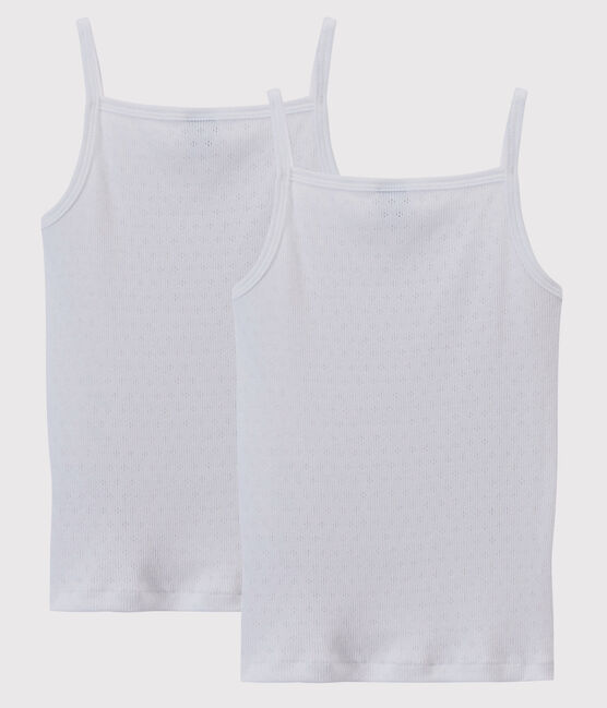 Girls' Openwork Strappy Tops - 2-Pack . set