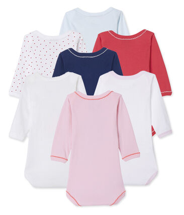 Surprise clutch of 7 baby girl long-sleeved bodysuits
