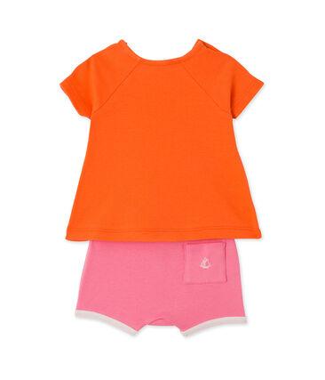Baby girls' shorts and tee set