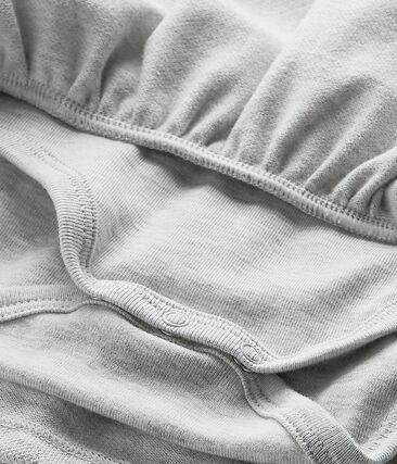 Baby girl's short-sleeved dress Beluga Chine grey