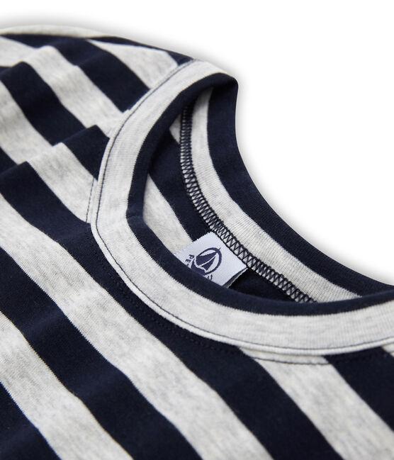 Women's Long-Sleeved Iconic T-Shirt Smoking blue / Beluga grey