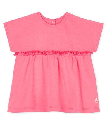 Baby Girls' Short-Sleeved Plain Blouse Cupcake pink
