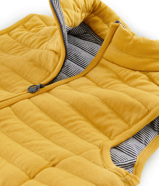 Women's Sleeveless Tube Knit Down Jacket Boudor yellow