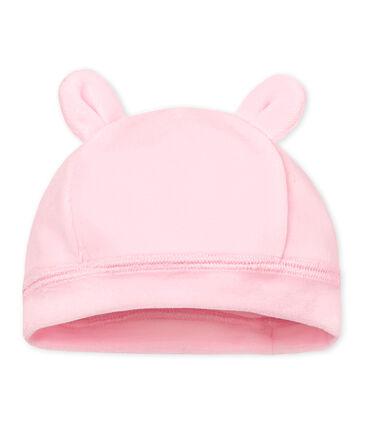 Unisex newborn baby velour bonnet