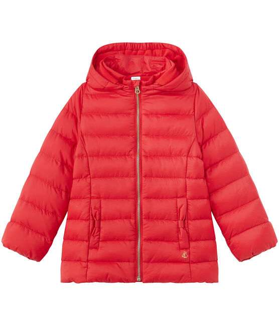 Girl's hooded padded jacket Froufrou red