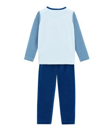 Little boy's pyjamas Limoges blue / Multico white