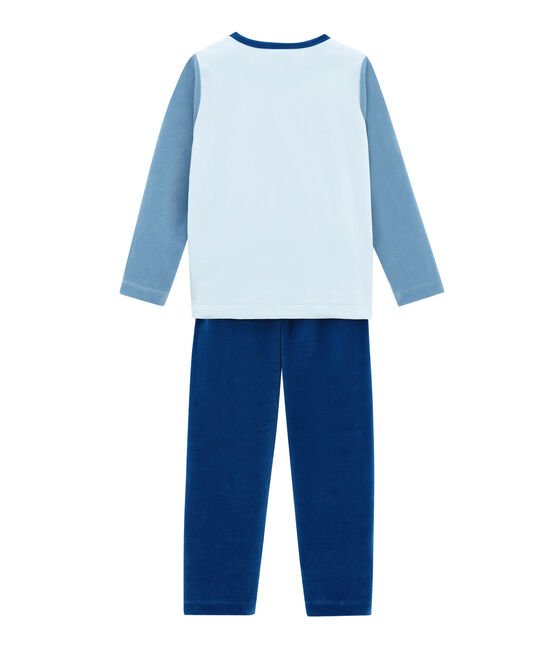 Little boy's pyjamas Limoges blue / Multico white
