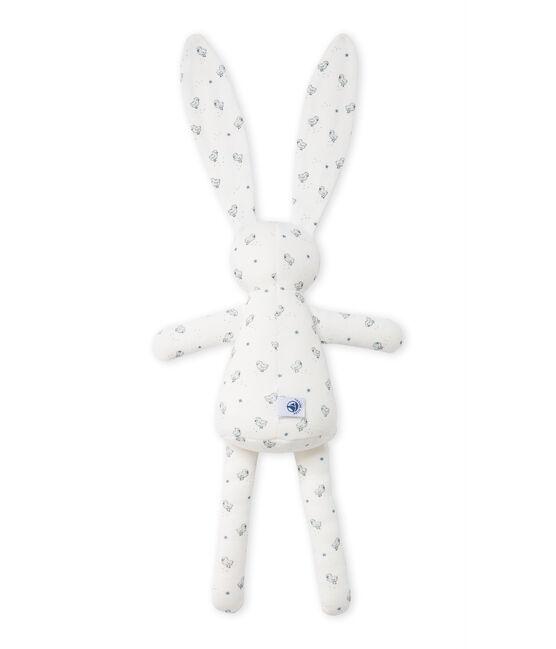 Doudou lapin bébé mixte imprimé Lait white / Multico white