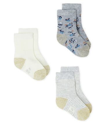 Baby Girls' Socks - 3-Piece Set Beluga grey