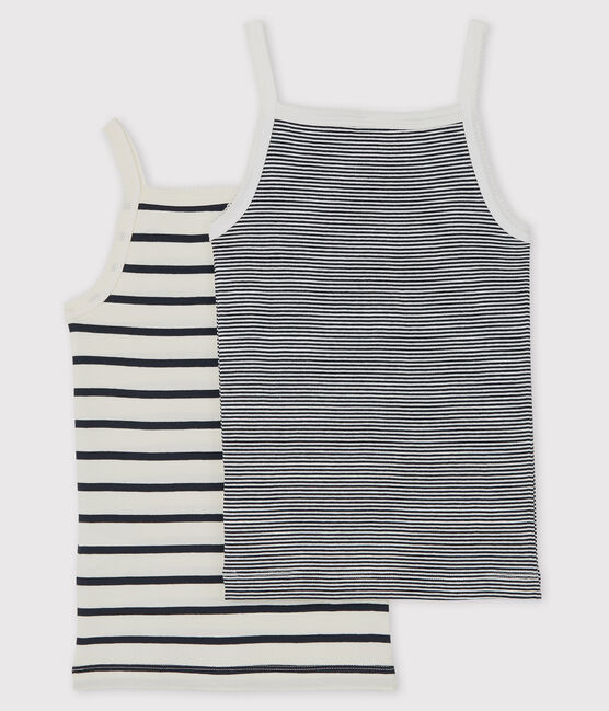 Girls' Striped Strappy Tops - 2-Pack . set