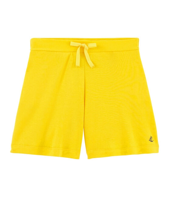 Girls' Knit Bermuda Shorts Shine yellow