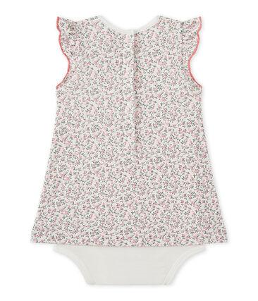 Baby girl's print bodysuit dress