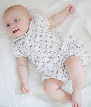 Baby girls' playsuit Marshmallow white / Multico white