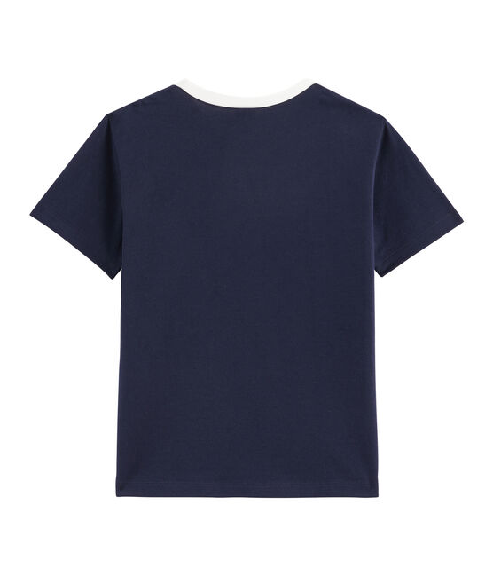 Boys' T-Shirt Smoking blue / Marshmallow white