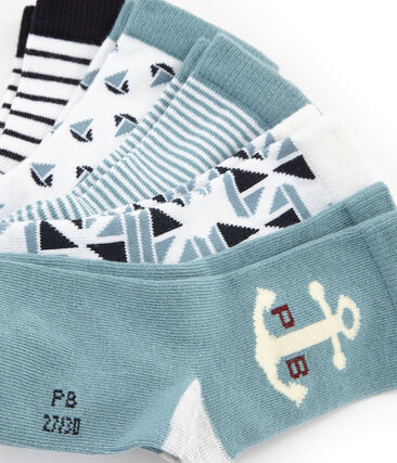 Pack of 5 Weekday Pairs of Boys' Socks