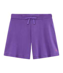 Girls' Knit Bermuda Shorts Real purple