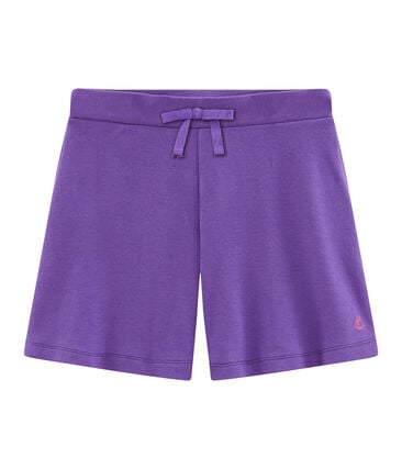 Girls' Knit Bermuda Shorts null