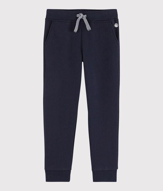Boys' Fleece Jogging Bottoms Smoking blue