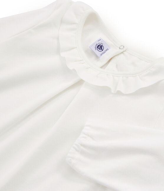 Girls' Long-Sleeved T-shirt Marshmallow white
