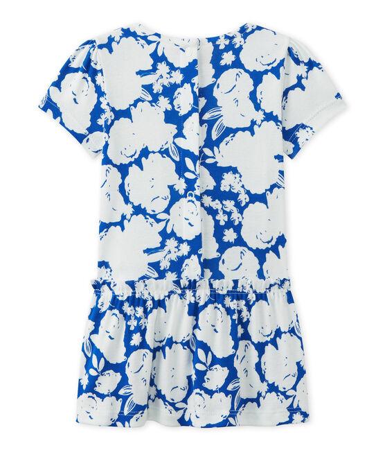 Baby girl's floral print dress Marshmallow white / Multico white