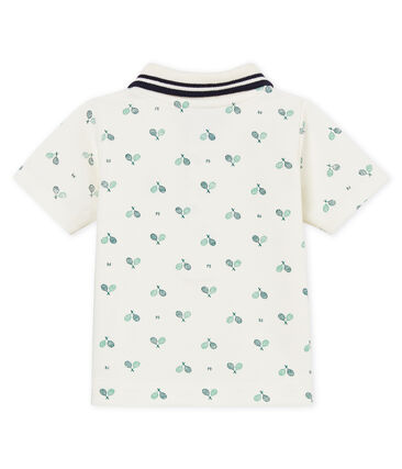 Baby boys' printed piqué polo shirt