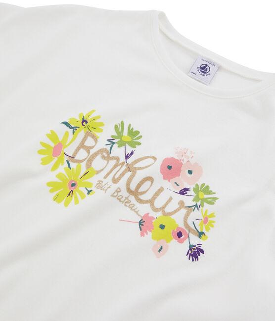 Girls' T-Shirt Marshmallow white
