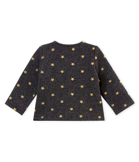 Baby girl's gold star print cardigan City black / Dore yellow