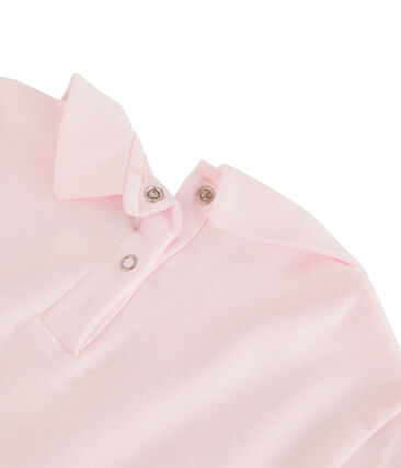 Girl's T-shirt with Peter Pan collar Vienne pink
