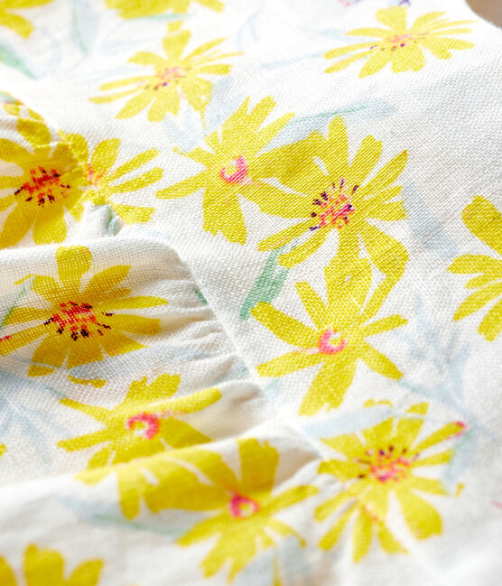 Baby Girls' Linen Blouse Marshmallow white / Multico white