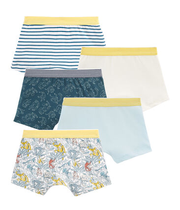 Boys' Boxer Shorts in Cotton - Set of 5