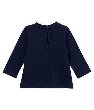 Baby girl's plain blouse Smoking blue