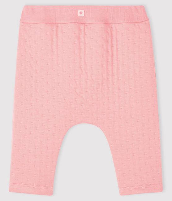 Babies' Quilted Tube Knit Leggings Charme pink