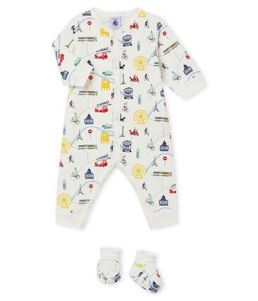 Baby boy's pyjama and booties set