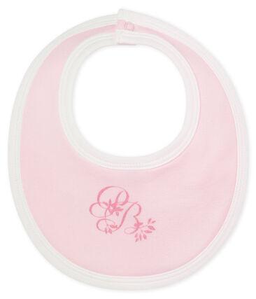 Unisex baby's bib in plain soft cotton. Vienne pink