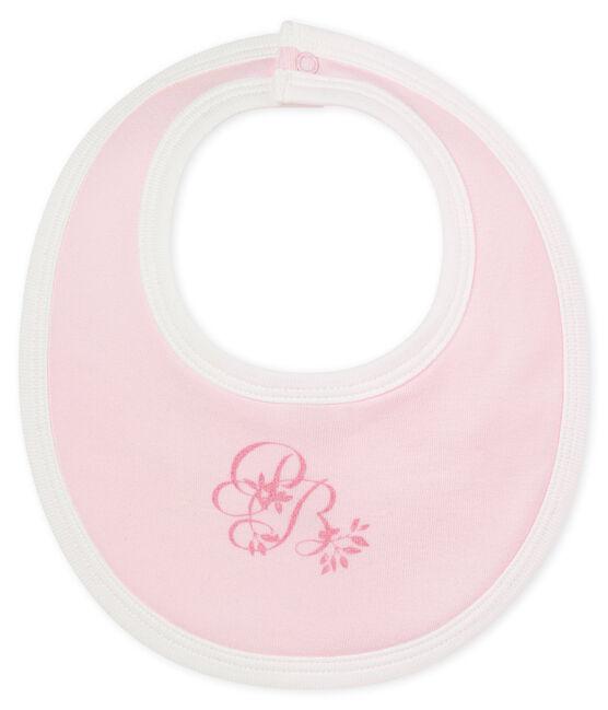 Unisex baby's bib in plain soft cotton. VIENNE