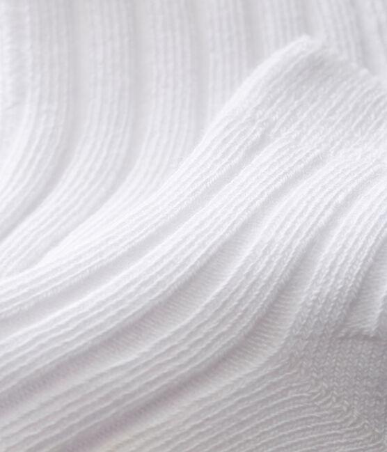 Unisex baby socks Ecume white
