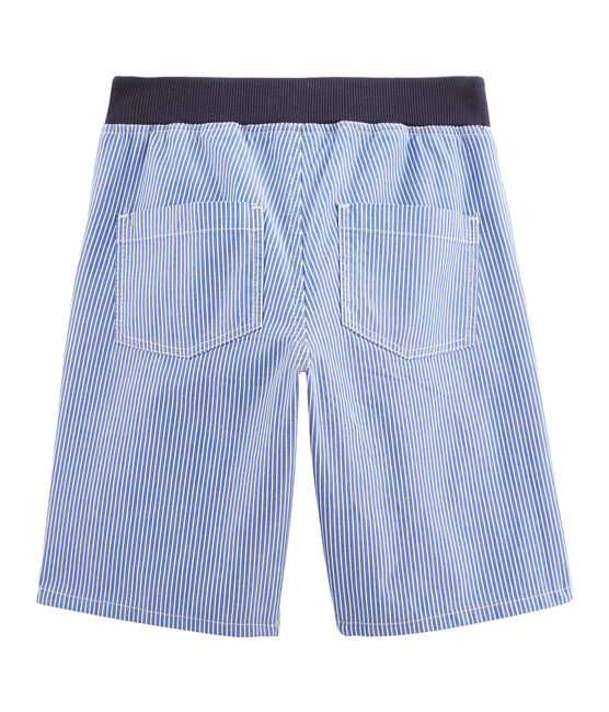 Boys' Bermuda Shorts Surf blue / Ecume white