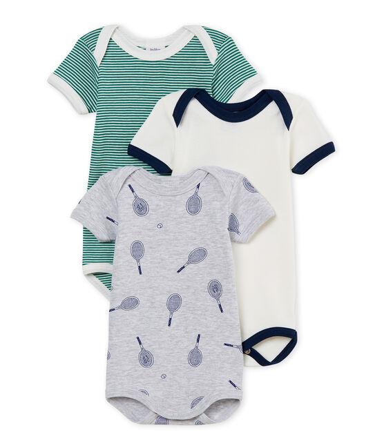 Baby Boys' Short-Sleeved Bodysuit - Set of 3 . set