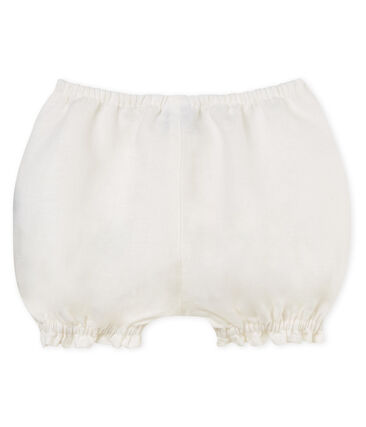 Baby girls' linen bloomers Marshmallow white
