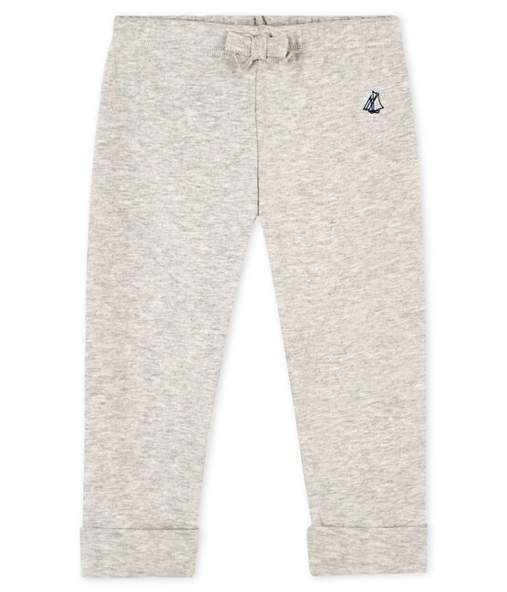 Baby boys' knit trousers Beluga grey