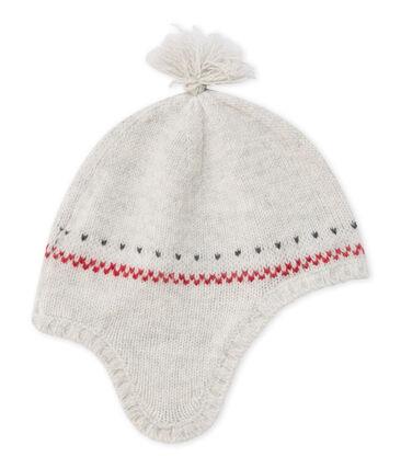 Baby's unisex pure wool Peruvian cap Montelimar Chine grey