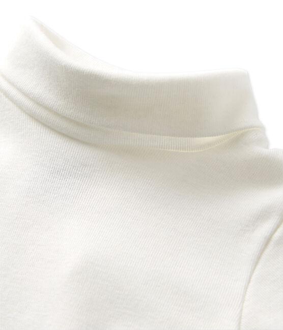 Babies' roll neck bodysuit Lait white