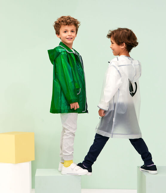 Unisex Children's Waxed Coat Prado green